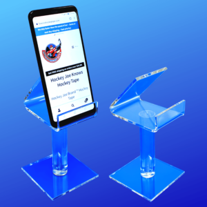 Deluxe model smart phone holder made from thick and flame polished acrylic