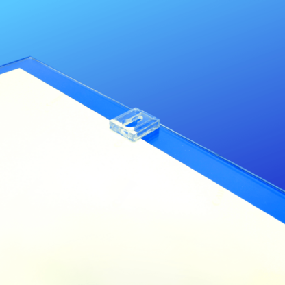 Folded acrylic frame for mounting on walls with universal key hole attachment
