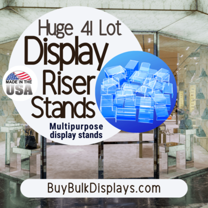 41 lot multipurpose acrylic riser stands