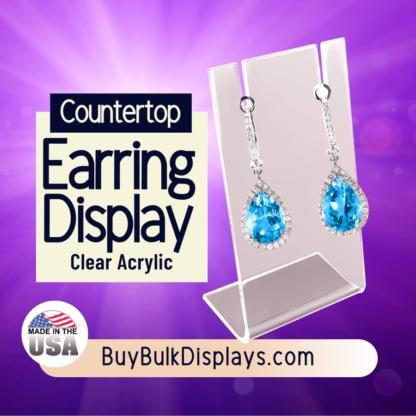 Acrylic countertop earring display stand