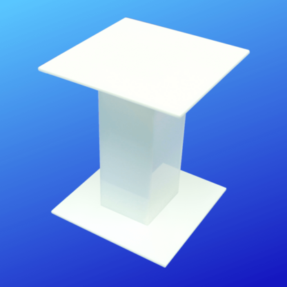 White Acrylic Pedestal Display