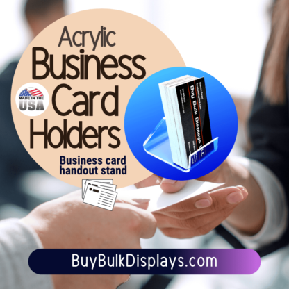 Business card holders for handouts
