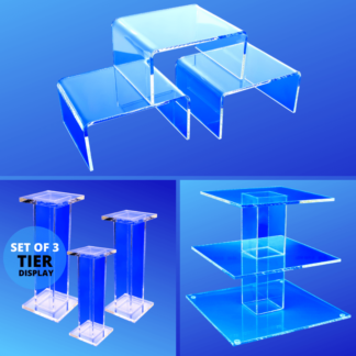 Acrylic Display Risers, Pedestals, Stands
