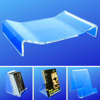 Acrylic Easel Display Stands, Business Card Holders