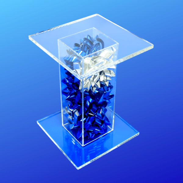 Bow pedestal stand displays