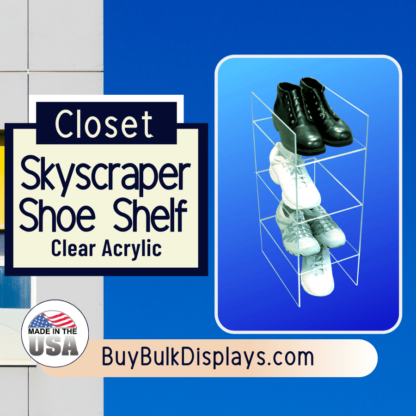 Acrylic closet skyscraper shoe shelf