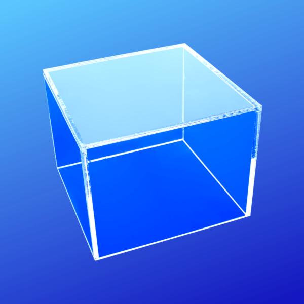 Acrylic cube display risers