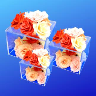 Acrylic cube risers