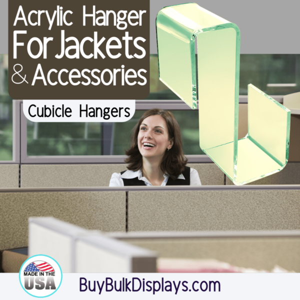 Acrylic hanger for jackets and accessories