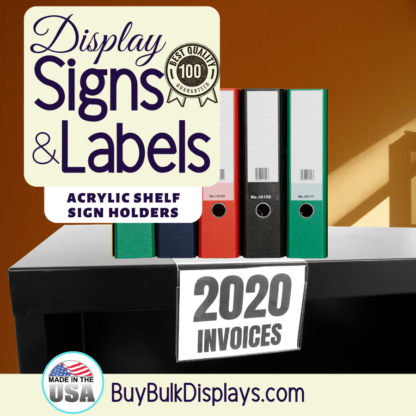 Acrylic shelf sign label holders