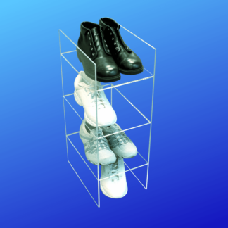 Acrylic shoe storage shelf