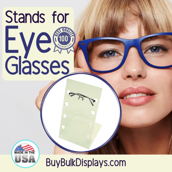 Acrylic stands for eyeglasses