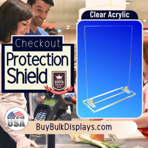 Checkout protection acrylic shield