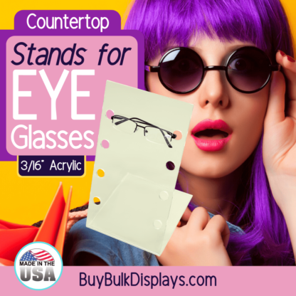 Countertop stands for eyeglasses
