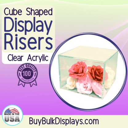 Cube shaped display risers