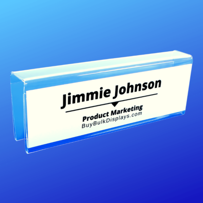 Cubicle name tag holder double sided