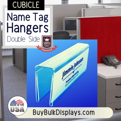 Double side cubicle name tag hangers