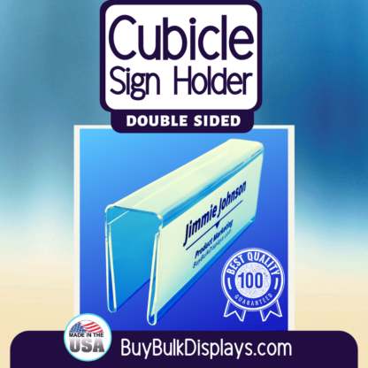 Double sided cubicle sign holders