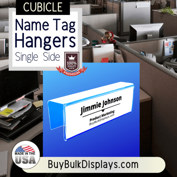 Single side cubicle name tag hangers