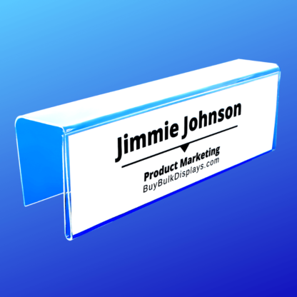 Single side cubicle name tag holder