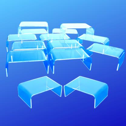Miniature clear acrylic risers