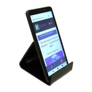 Black acrylic smartphone stand