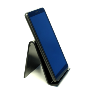 Black acrylic smartphone stand