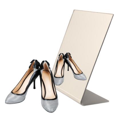 Floor mirror for shoe stores