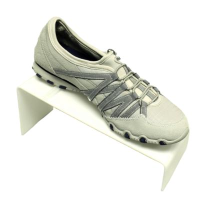White acrylic shoe display riser