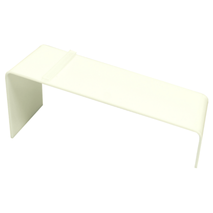 White acrylic shoe riser