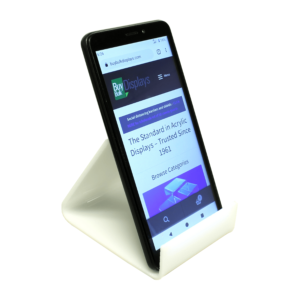 White acrylic smartphone stand