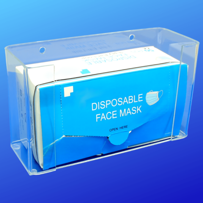 Clear face mask holder dispenser